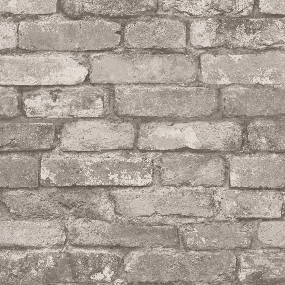 Fine Decor Distinctive Cream Rustic Brick Wallpaper Large Image
