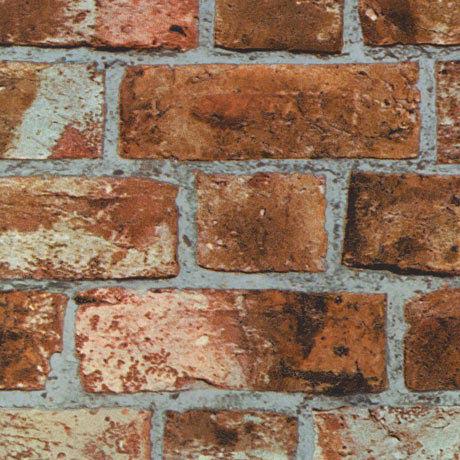 Fine Decor Distinctive Orange Brick Wallpaper