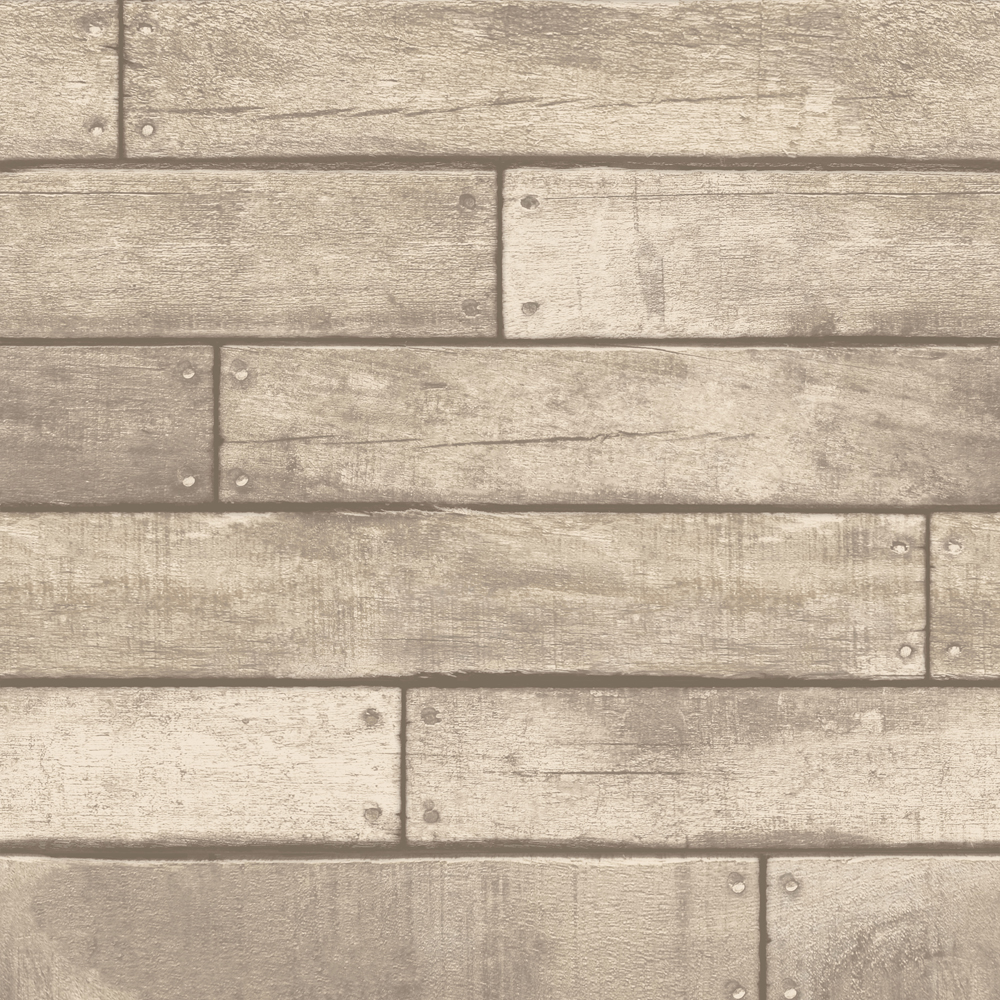 Fine Decor Distinctive Sand Wooden Plank Wallpaper Large Image