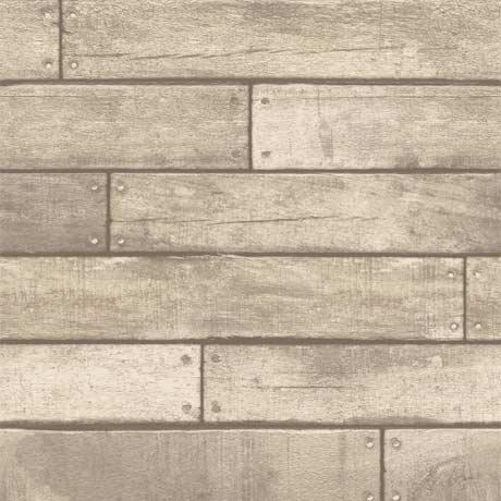 Fine Decor Distinctive Sand Wooden Plank Wallpaper