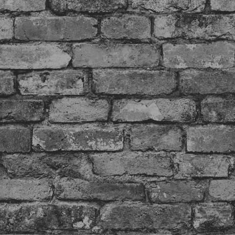 Fine Decor Distinctive Silver Rustic Brick Wallpaper