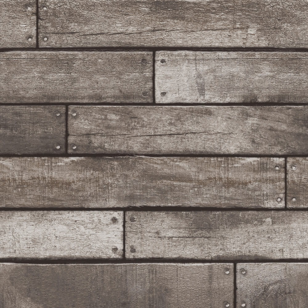 Distinctive Grey Wooden Plank Wallpaper