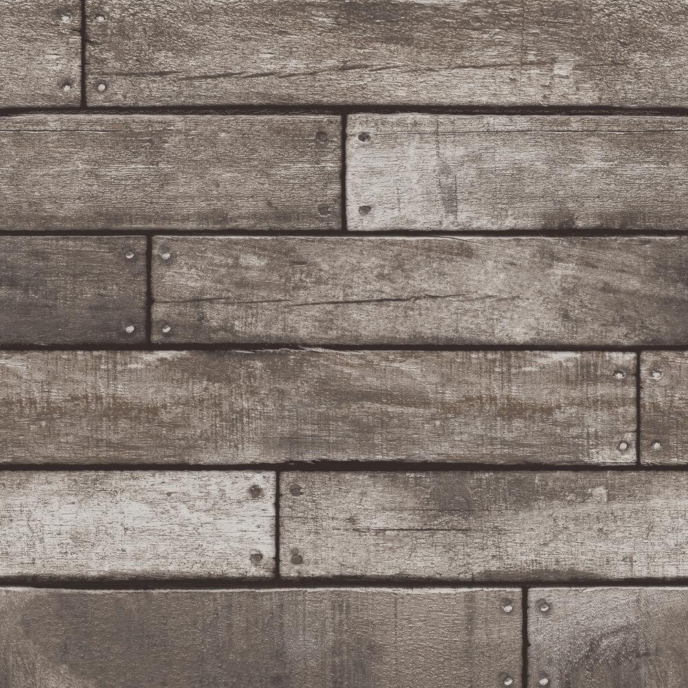 Fine Decor Distinctive Grey Wooden Plank Wallpaper Large Image