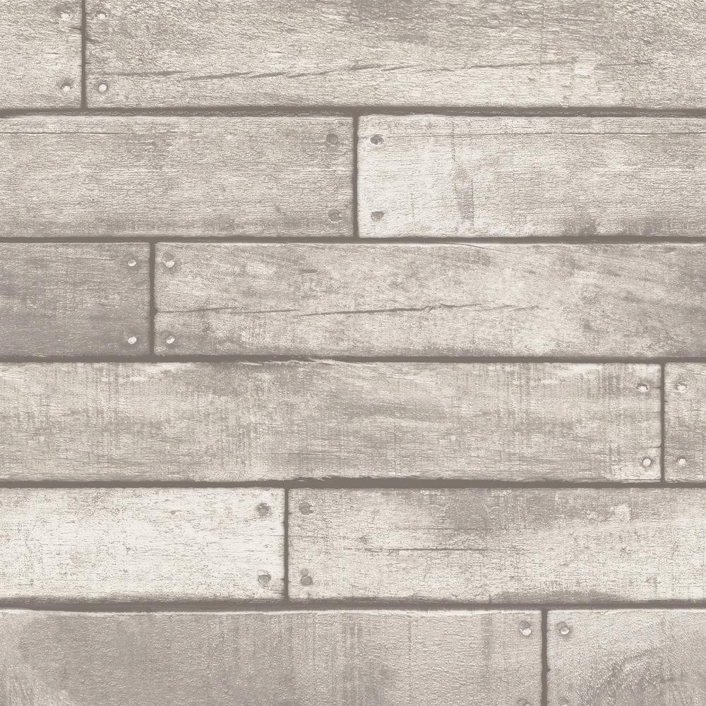 Fine Decor Distinctive White Wooden Plank Wallpaper Large Image