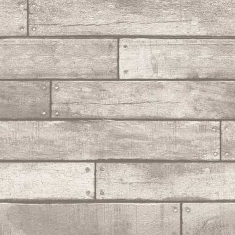 Fine Decor Distinctive White Wooden Plank Wallpaper