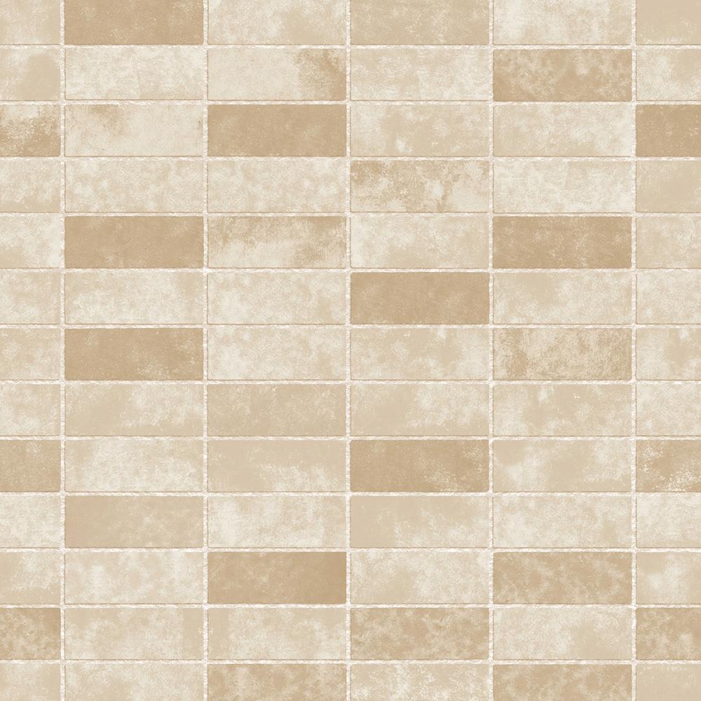Fine Decor Gold Ceramica Stone Tile Wallpaper Fd40118