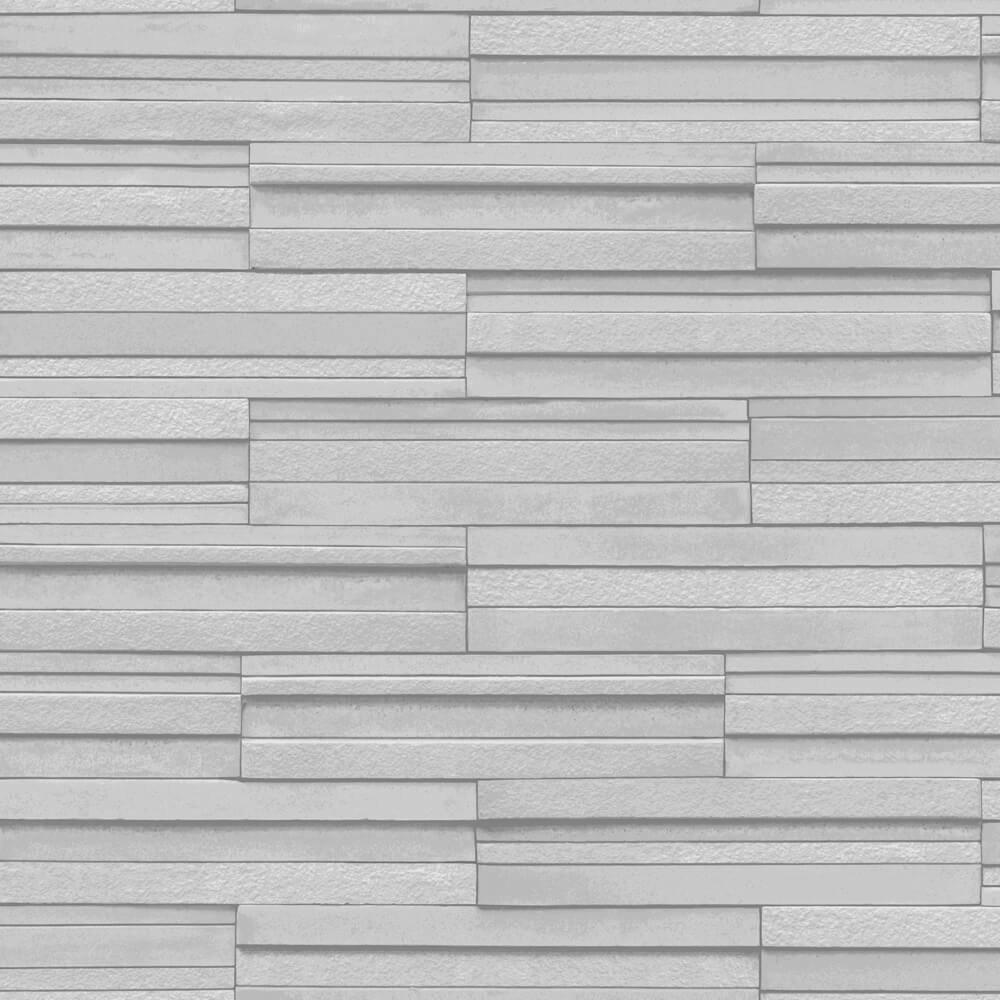Light Grey Ceramica Slate Tile Wallpaper