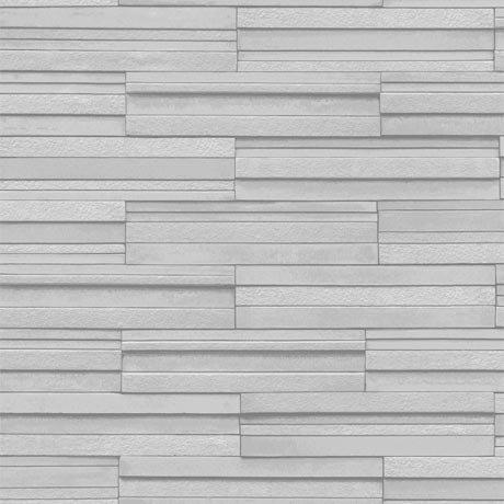 Fine Decor Light Grey Ceramica Slate Tile Wallpaper