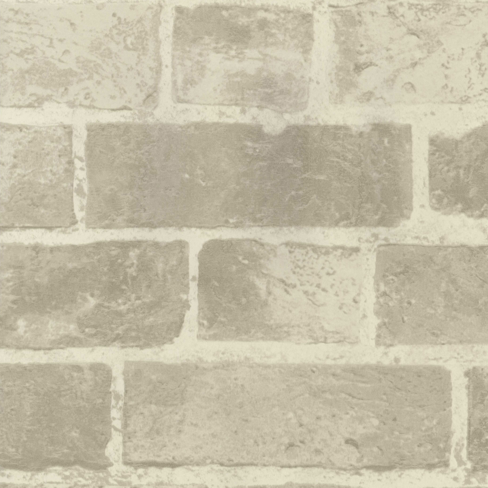 Fine Decor Distinctive Cream Brick Wallpaper profile large image view 1