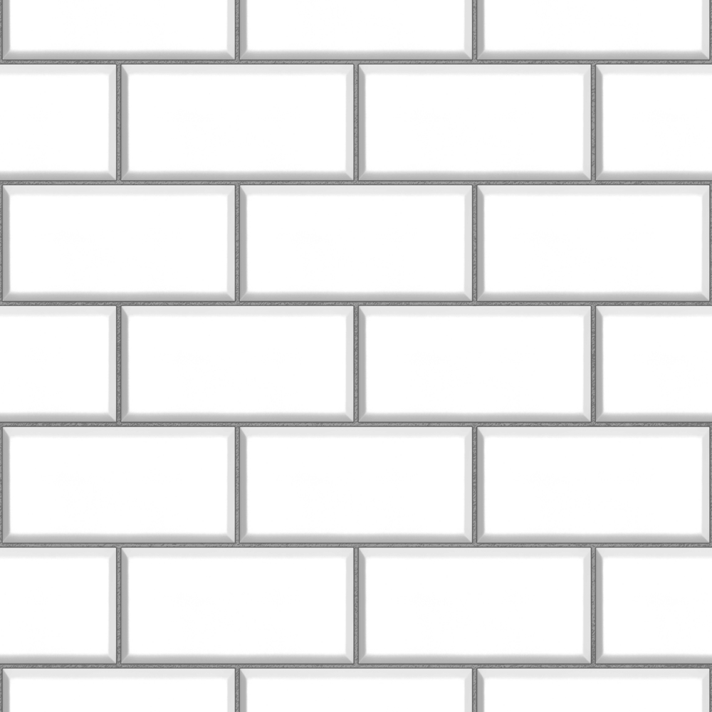 White Ceramica Subway Tile Wallpaper