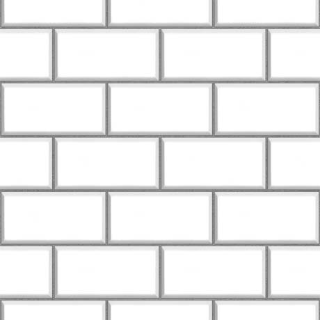 Fine Decor White Ceramica Subway Tile Wallpaper