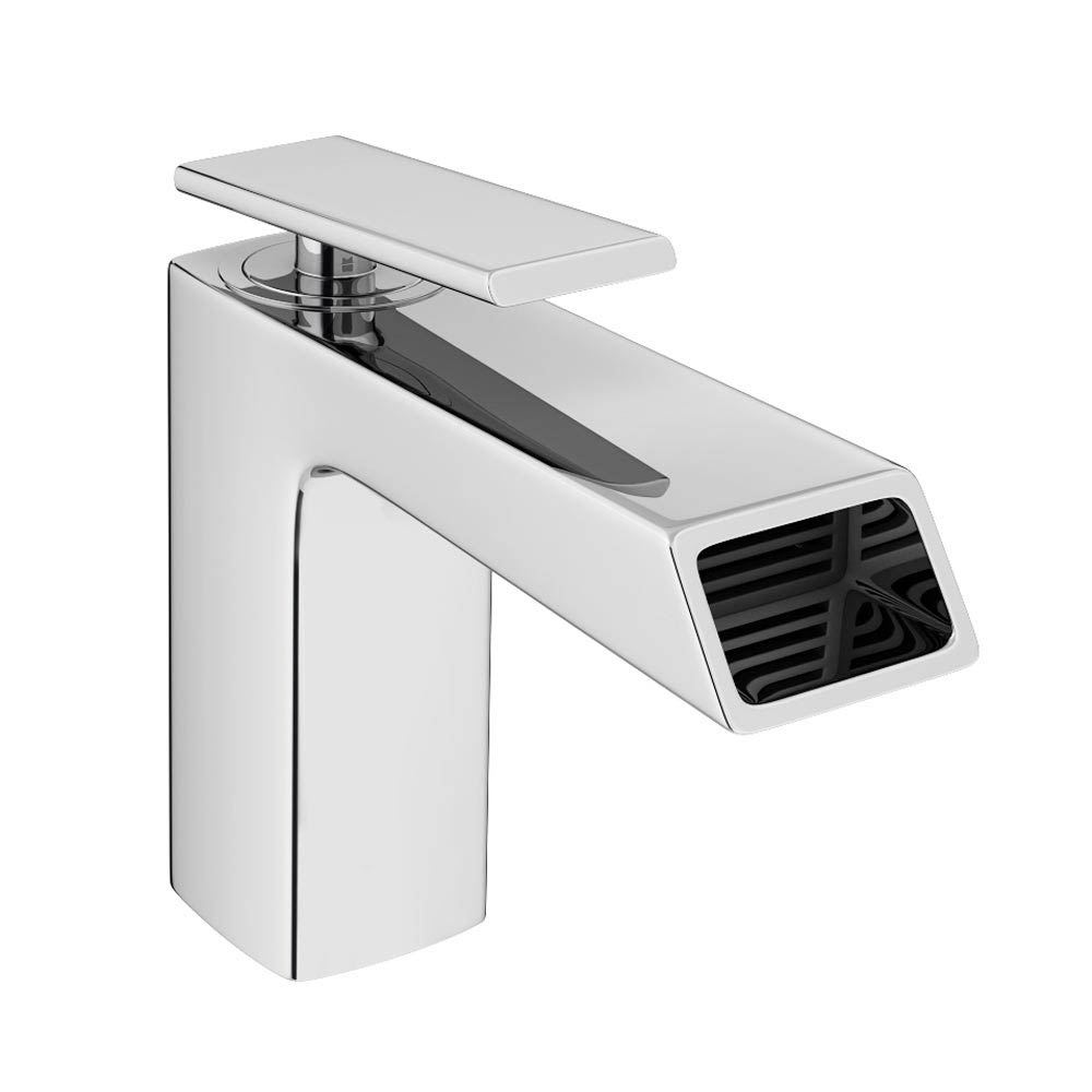 Flare Modern Basin Mixer Tap + Waste profile large image view 1