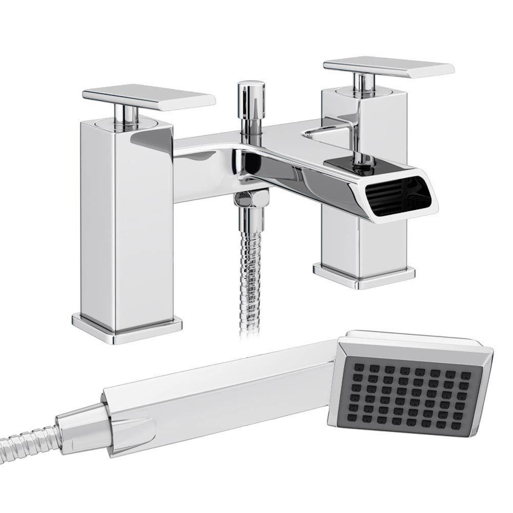 Flare Modern Bath Shower Mixer Tap + Shower Kit Large Image