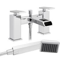 Flare Modern Bath Shower Mixer Tap + Shower Kit Medium Image