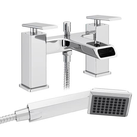 Flare Modern Bath Shower Mixer Tap + Shower Kit