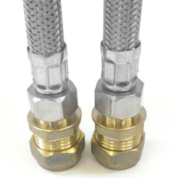 "Pair of 3/8"" Inch Flexi Tail Pipe Adapters profile large image view 2"