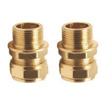 """Pair of 3/8"""" Inch Flexi Tail Pipe Adapters for Grohe + Roca Taps Medium Image"""