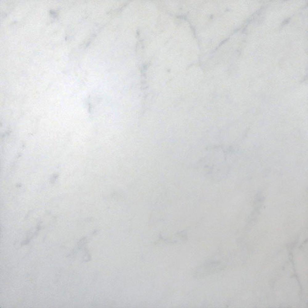 Florence Marbled White Floor Tile (Matt - 450 x 450mm) Large Image
