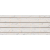 Florence Marbled White Mosaic Wall Tile (Gloss - 200 x 500mm) Medium Image
