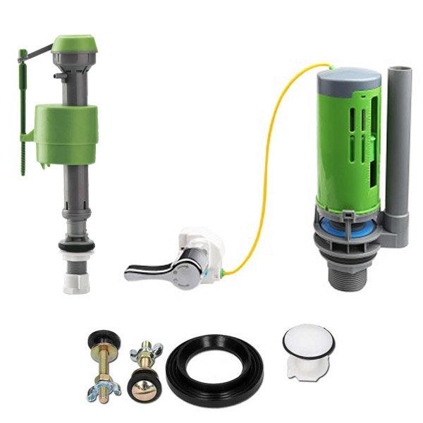 FlushKING - Complete Repair Pack 6 - Dual Flush Lever - Adjustable Fill Valve - FK-AF-FL Large Image