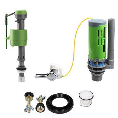 FlushKING - Complete Repair Pack 6 - Dual Flush Lever - Adjustable Fill Valve - FK-AF-FL