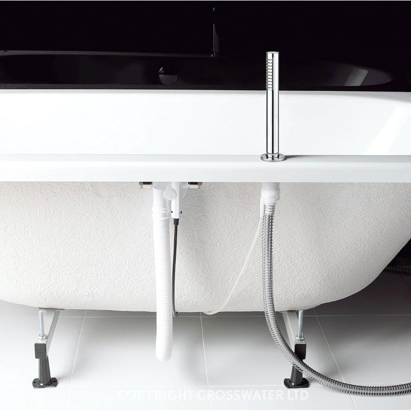 Crosswater Digital Evoque Elite Bath Filler Waste & Pull Out Hand Shower additional Large Image