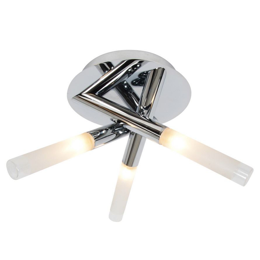 Forum - Crux 3 Light Ceiling Fitting - SPA-20829-CHR Large Image