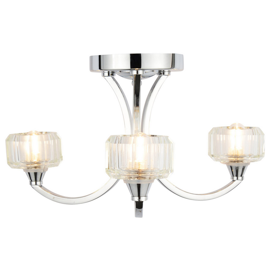 Forum - Octans 3 Light Ceiling Fitting - SPA-20279-CHR Large Image