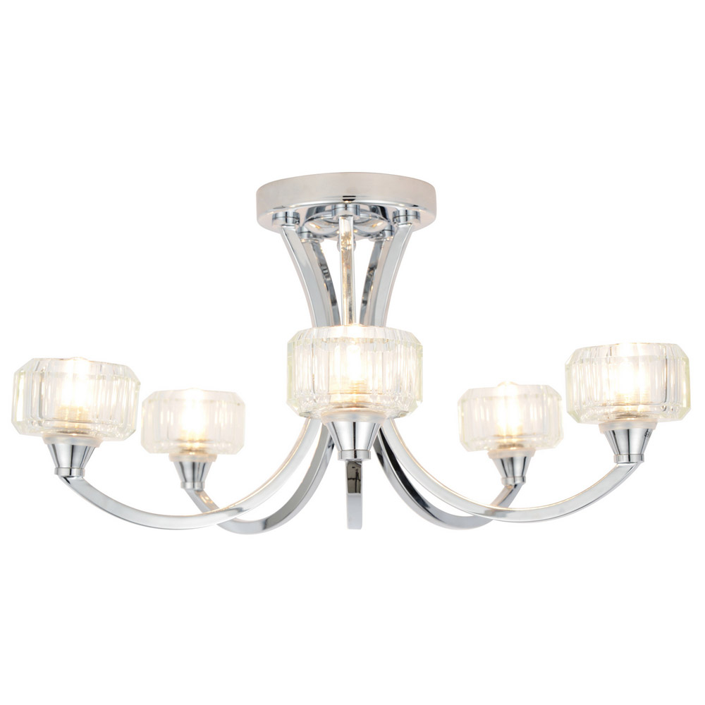 Forum - Octans 5 Light Ceiling Fitting - SPA-20280-CHR Large Image