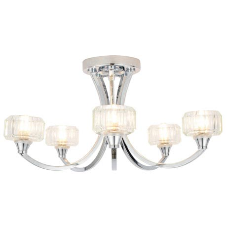 Forum - Octans 5 Light Ceiling Fitting - SPA-20280-CHR