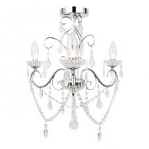 Vela 3 Light Bathroom Chandelier - IP44 Rated (SPA-20182-CHR) Medium Image