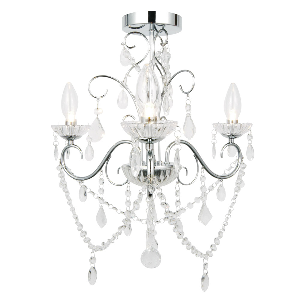Vela 3 Light Bathroom Chandelier
