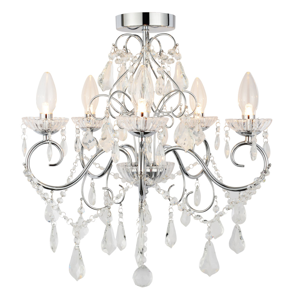 Vela IP44 Rated Bathroom Chandelier (SPA-19713-CHR) profile large image view 1