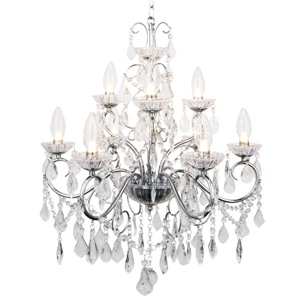 Forum - Vela 9 Light Chandelier - SPA-19714-CHR Large Image