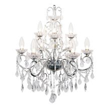 Forum - Vela 9 Light Chandelier - SPA-19714-CHR Medium Image