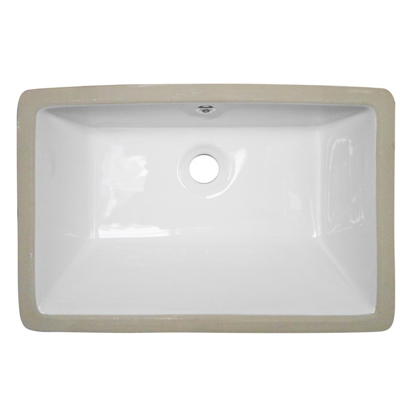 Fresco Rectangular Under Counter Basin 0TH - 530 x 355mm profile large image view 2