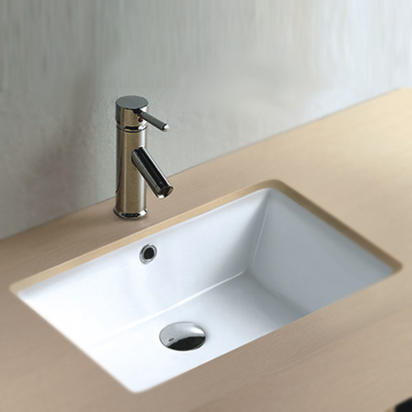Fresco Rectangular Under Counter Basin 0TH - 530 x 355mm profile large image view 1