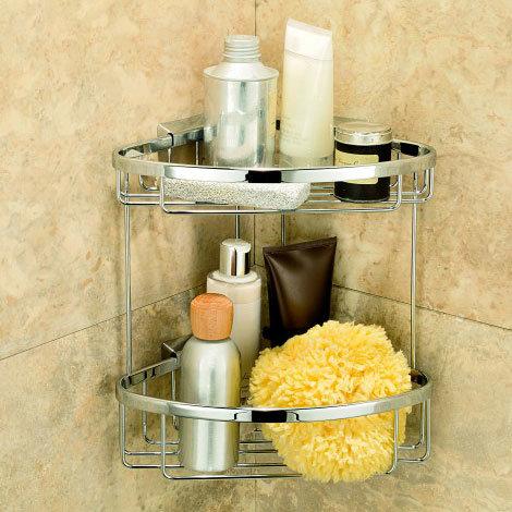Coram - Double Corner Shower Basket - G183-697 Large Image