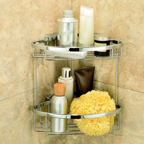 Coram - Double Corner Shower Basket - G183-697