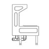 Franke G20051N Waste Plumbing Kit for Centinel Janitorial Unit profile small image view 1