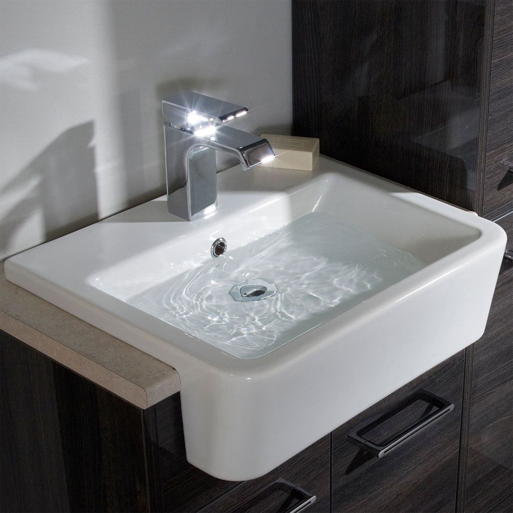 Roper Rhodes Geo 515mm Semi-Countertop Basin - G3SCBAS profile large image view 3