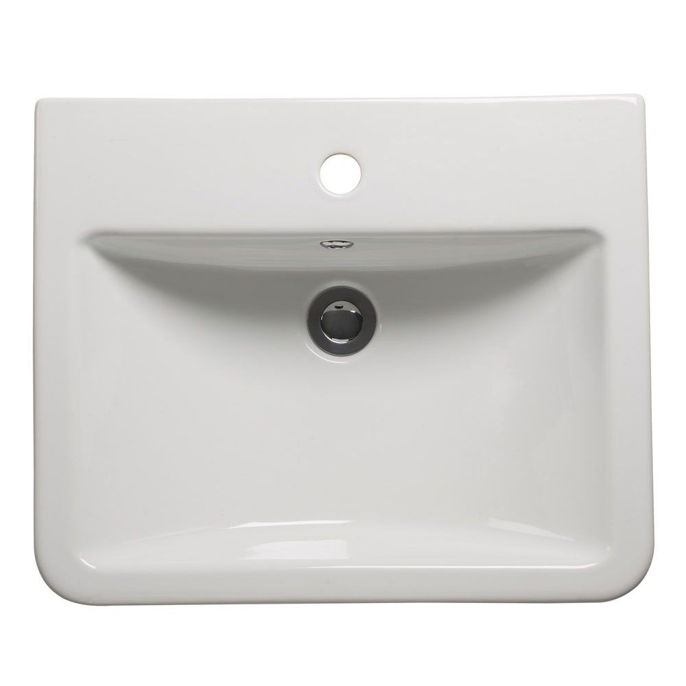 Roper Rhodes Geo 515mm Semi-Countertop Basin - G3SCBAS profile large image view 1