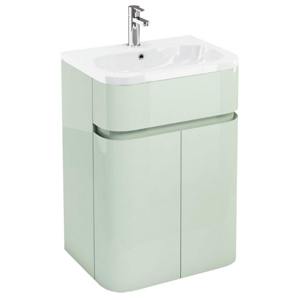 Aqua Cabinets - W600 x D450mm Gullwing Cabinet with Quattrocast Basin - Reef Large Image