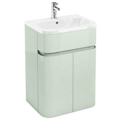 Aqua Cabinets - W600 x D450mm Gullwing Cabinet with Quattrocast Basin - Reef