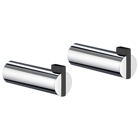 Smedbo Life Single Towel Hook (Pair) - Polished Chrome - GB111