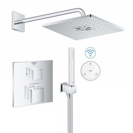 Grohe Grohtherm Cube SmartConnect Head & Handset Shower Set