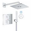 Grohe Grohtherm Cube SmartConnect Head & Handset Shower Set profile small image view 1