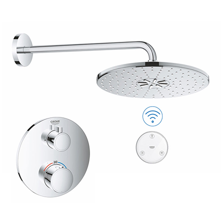 Grohe Grohtherm SmartConnect Round Shower Set