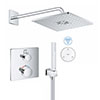 Grohe Grohtherm SmartConnect Square Head & Handset Shower Set profile small image view 1