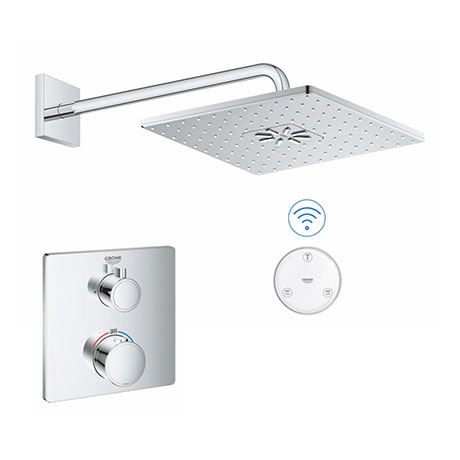 Grohe Grohtherm SmartConnect Square Shower Set